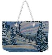 Merry Christmas - Winter Landscape Weekender Tote Bag