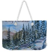 Merry Christmas - Winter Trees And Mountains Weekender Tote Bag