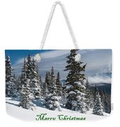 Merry Christmas - Winter Trees And Rising Clouds Weekender Tote Bag