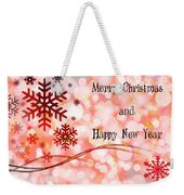 Merry Christmas And Happy New Year Weekender Tote Bag