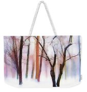 Merry Christmas Card Weekender Tote Bag by Jessica Jenney