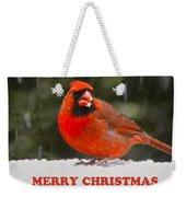 Merry Christmas Cardinal Weekender Tote Bag