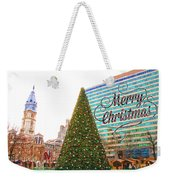 Merry Christmas From Philadelphia Weekender Tote Bag