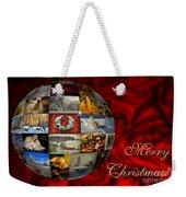 Merry Christmas Globe Weekender Tote Bag