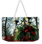 Merry Christmas Greeting Card Weekender Tote Bag