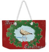 Merry Christmas Greeting Card - Young Seagull Weekender Tote Bag