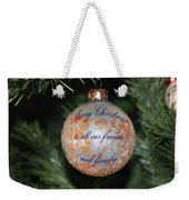 Merry Christmas Greetings Weekender Tote Bag