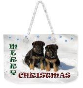 Merry Christmas Puppies Weekender Tote Bag