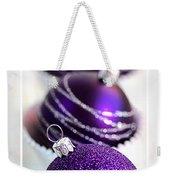 Merry Christmas Purple Baubles Weekender Tote Bag