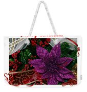 Merry Christmas Red Ribbon Weekender Tote Bag