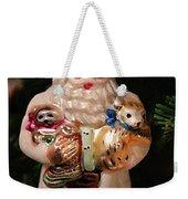 Merry Christmas Santa And Animals Weekender Tote Bag