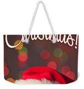 Merry Christmas Santa Card Weekender Tote Bag