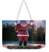 Merry Christmas Santa Claus Greeting Card Weekender Tote Bag