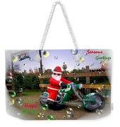 Merry Christmas  Seasons Greetings  Happy New Year Weekender Tote Bag