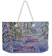 Merry Christmas - Snowy Winter Path Weekender Tote Bag
