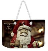 Merry Christmas To All Weekender Tote Bag by Trish Tritz