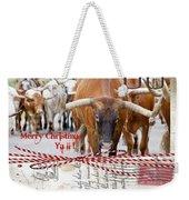 Longhorns Merry Christmas Ya'll Weekender Tote Bag