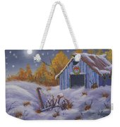 Merry Christmas You Old Barn And Farm Implement Weekender Tote Bag