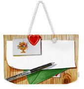 Message From The Heart Weekender Tote Bag