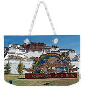 Message Of Joy From Potala Palace In Lhasa-tibet  Weekender Tote Bag