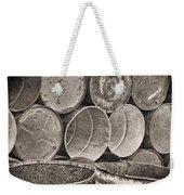 Metal Barrels 2bw Weekender Tote Bag