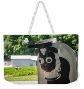 Metal Cow On Farm Weekender Tote Bag