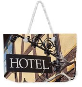 Metal Hotel Sign Weekender Tote Bag