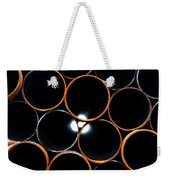 Metal Pipes Weekender Tote Bag by Fabrizio Troiani