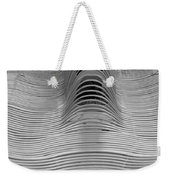 Metal Strips In Balck And White Weekender Tote Bag