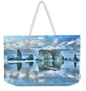 Metallic Cloud Reflections Weekender Tote Bag