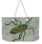 Metallic Green And Gold Prehistoric Insect  Weekender Tote Bag