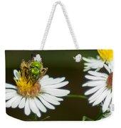 Metallic Green Wasp Weekender Tote Bag