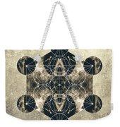 Metatron's Cube Silver Weekender Tote Bag by Filippo B