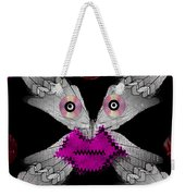 Meteoroid Creature  Coming From Comets And Androids Pop Art Weekender Tote Bag by Pepita Selles