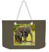 Thirsty, Methai And Baylor, Elephants  Weekender Tote Bag