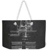 Method Of Drilling Wells Patent From 1906 - Dark Weekender Tote Bag