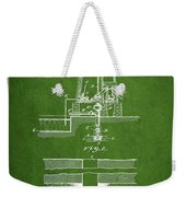 Method Of Drilling Wells Patent From 1906 - Green Weekender Tote Bag