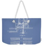 Method Of Drilling Wells Patent From 1906 - Light Blue Weekender Tote Bag