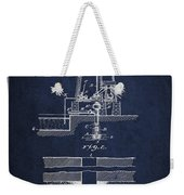 Method Of Drilling Wells Patent From 1906 - Navy Blue Weekender Tote Bag