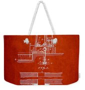 Method Of Drilling Wells Patent From 1906 - Red Weekender Tote Bag