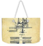 Method Of Drilling Wells Patent From 1906 - Vintage Weekender Tote Bag