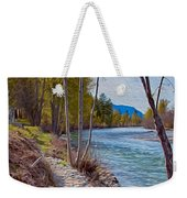 Methow River Coming From Mazama Weekender Tote Bag by Omaste Witkowski