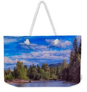 Methow River Crossing Weekender Tote Bag