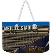 Metlife Stadium Super Bowl Xlviii Ny Nj Weekender Tote Bag