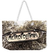 Metropolitain Weekender Tote Bag