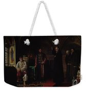Metropolitan Philip Of Moscow 1507-90 With Tsar Ivan The Terrible 1530-84 Oil On Canvas Weekender Tote Bag