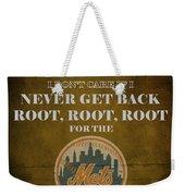 Mets Peanuts And Cracker Jack  Weekender Tote Bag