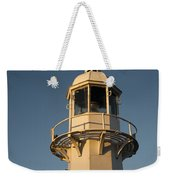 Mevagissey Lighthouse In The Evening Weekender Tote Bag