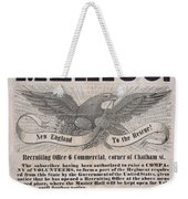 Mexican American War Flyer Weekender Tote Bag