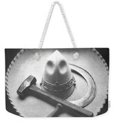 Mexican Revolution Sombrero With Hammer Weekender Tote Bag